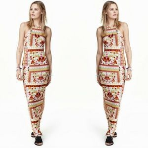 H&M LOVES COACHELLA - floral halter maxi dress